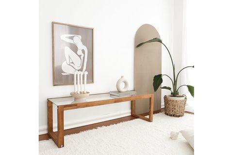 Neostyle TV Stand, Dark Wood, 130 cm