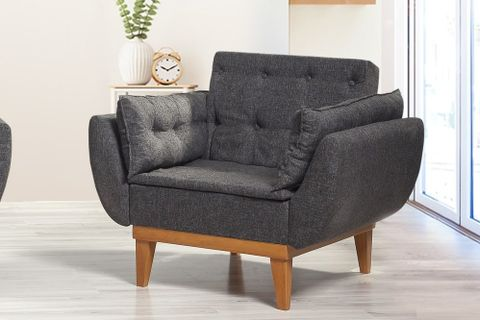 Moby Armchair, Anthracite Grey