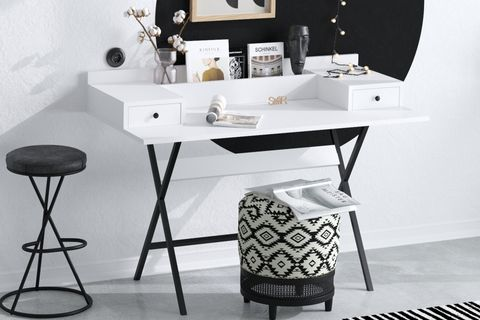 Sera Fiya Study Table (White)