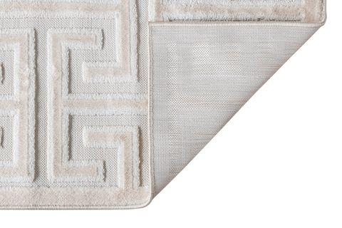 Julie Greek Key Woven Rug, 160 x 230, White