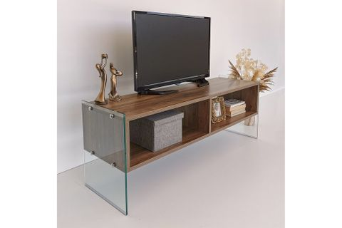 Neostyle Major TV Stand, Dark Wood, 122 cm
