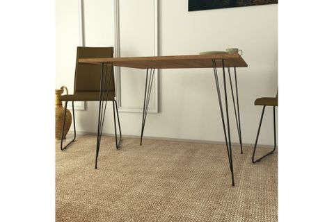 Pasific 2-4 Seat Fixed Dining Table, Brown & Black