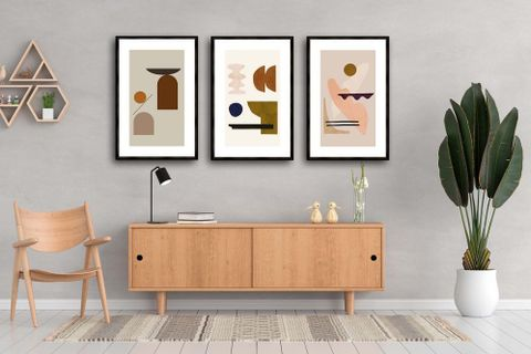 New Beginnings Art Print with Frame, Triptych