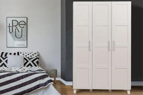 Victoria 3 Door Wardrobe, White