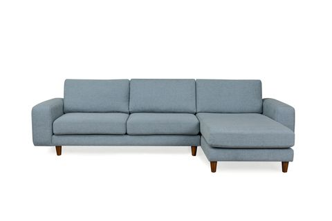 Merlin Corner Sofa, Blue (Right)