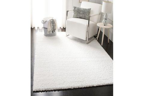 Ava Minimalist Woven Rug, 80 x 150, White