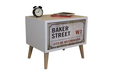 Baker Bedside Table, White