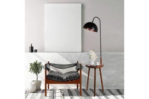 Erin Floor Lamp, Dark Wood