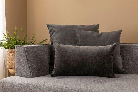 Agnes Cushion Cover, 55x55 cm, Grey