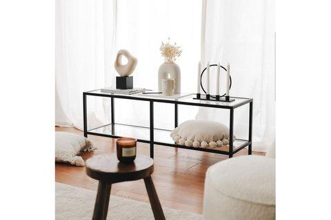 Neostyle Basic Black TV Stand, Black, 130 cm
