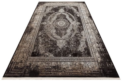 ANADOLU AD 01 ANTRASİT BEJ KLASİK DESENLİ SALON HALISI 80x150