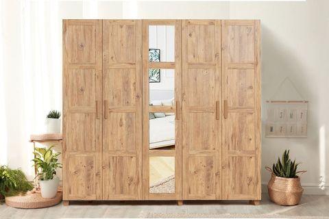 Victoria 5 Door Wardrobe, Oak