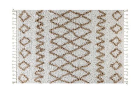 Marrakesh Pattern Rug, White & Beige (Small)