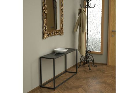 Potrica Console Table, 120 cm, Dark Grey & Black