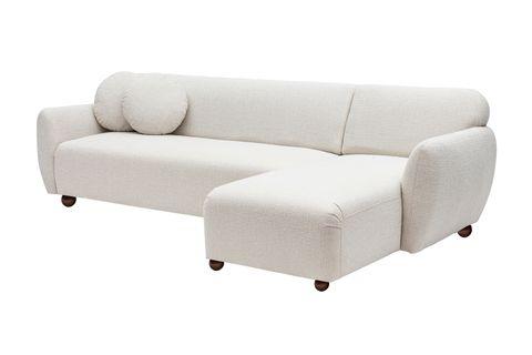 Eddy Corner Chaise Sofa, Right, Ecru