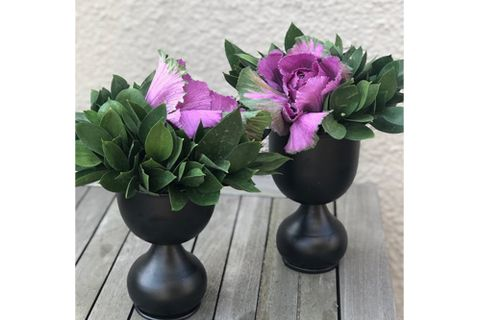 Moena Metal Vase, Black (Small)