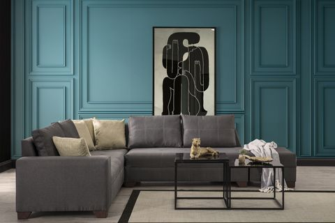 Esse Corner Chaise Sofa, Right, Dark Grey