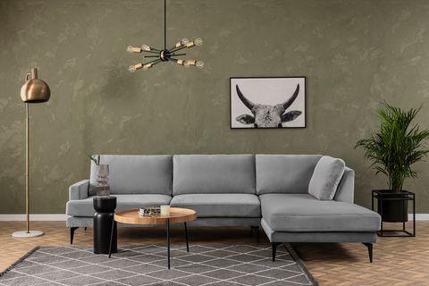 Matilda Corner Sofa, Anthracite Grey (Right)