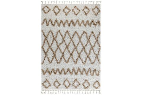 Marrakesh Pattern Rug, White & Beige (Large)