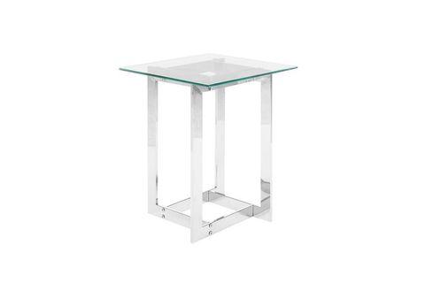 Crea Glass Side Table, Silver