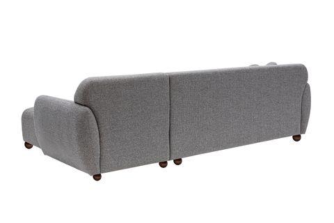 Eddy Corner Chaise Sofa, Right, Light Grey