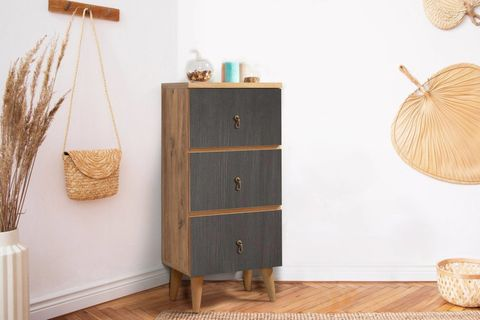 Motto Chest of Drawers, Grey