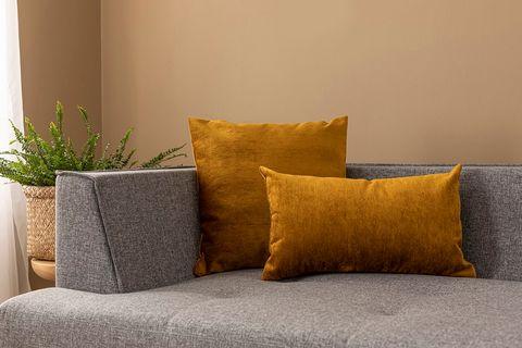 Agnes Cushion Cover, 55x55 cm, Mustard