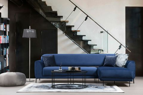 Cloud Corner Sofa Bed, Blue (Right)