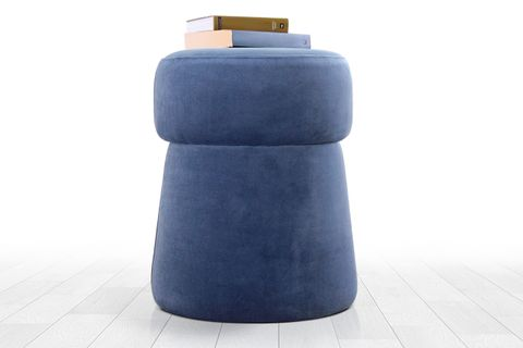 Morcone Footstool, Blue