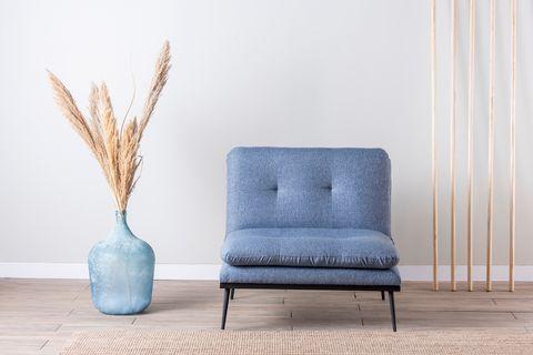 Futon Martin Chair Bed, Blue