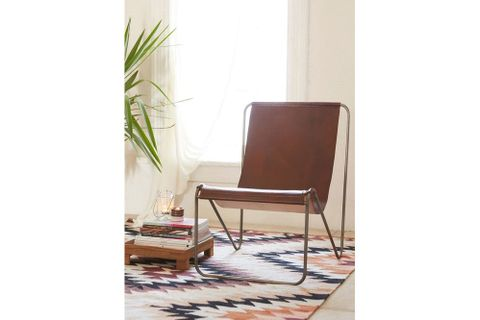 Sohomanje Leather Armchair, Brown & Black