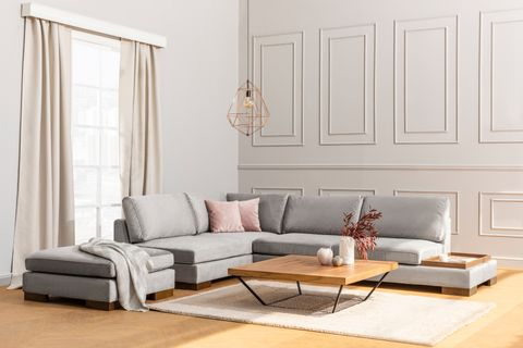 Tulip Corner Sofa, Grey (Left)